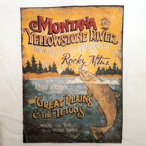 Montana Soft Pre-Shrunk White T-shirt Size XL